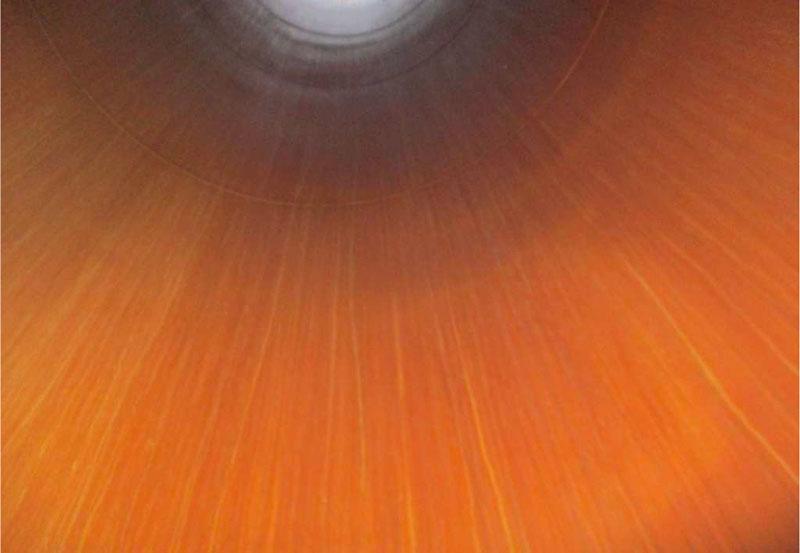 Corrosion inside scrubber funnel